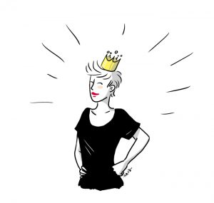 Moi avec ma couronne :P