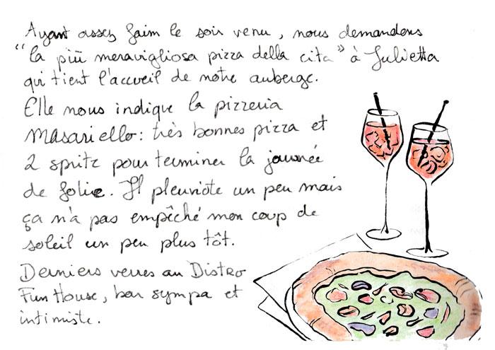 Pizzeria Masaniello : spritz et pizza