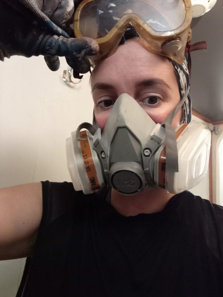 Moi sur le chantier