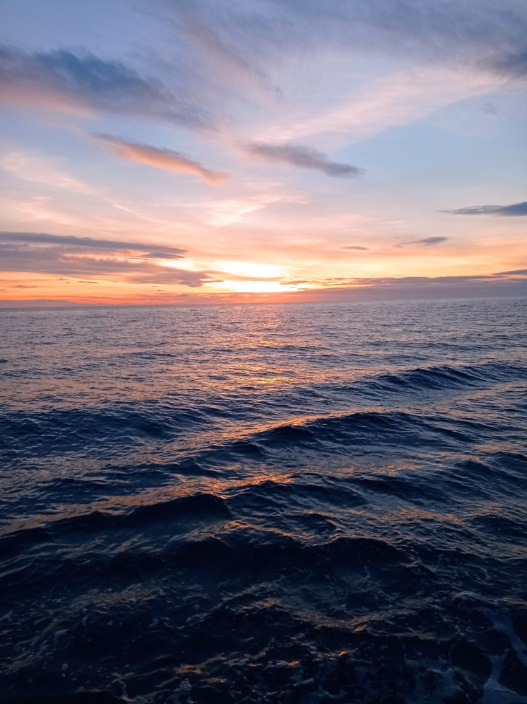 Coucher de soleil sur la Méditerrannée